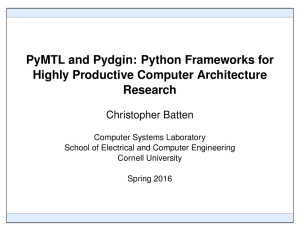 Python Frameworks for Highly Productive Computer Architecture