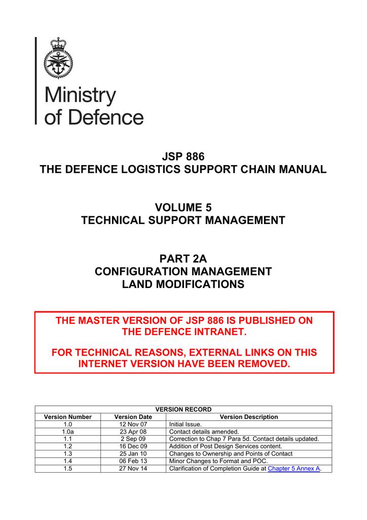 JSP 886: Vol 5 Part 2A
