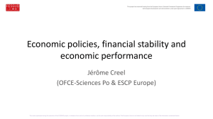 Economic policies, financial stability and economic performance
