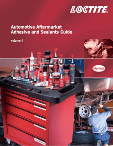 Automotive Aftermarket Adhesive and Sealants Guide