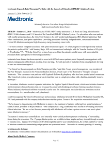 Medtronic 2015 Integrated Performance Report