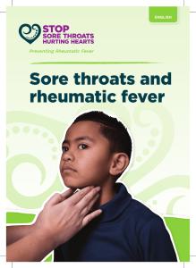 Sore throats and rheumatic fever
