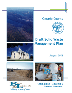 Draft Solid Waste Management Plan