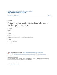 Fast ground state manipulation of neutral atoms in microscopic