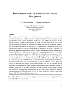 Environmental Audit of Municipal Solid Waste Management