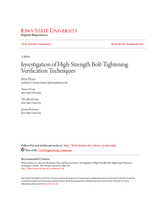 Investigation of High-Strength Bolt-Tightening Verification Techniques