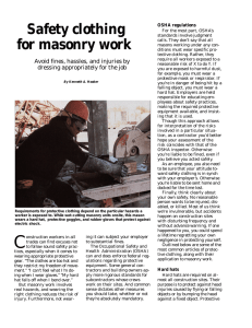 - Masonry Construction