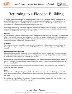 Returning to a Flooded Building