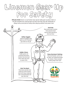 Lineman Safety Gear Coloring Sheet