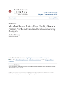 From Conflict Towards Peace in Northern Ireland and South Africa