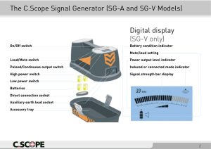 The C.Scope Signal Generator (SG-A and SG