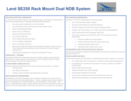 Land SE250 Rack Mount Dual NDB System Safety and Reliability