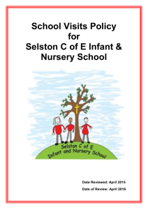 Educational Visits Policy 2015 - Selston C of E Infant and Nursery