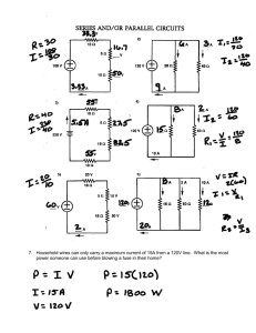 Series and /or Parallel Circuits