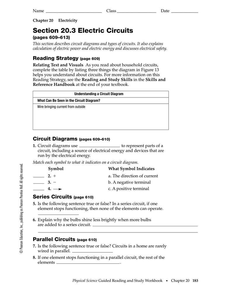 Types Of Circuits Worksheet Answers - Promotiontablecovers