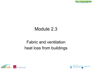 Module 2.3 – Fabric and ventilation heat loss