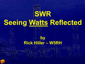 SWR Seeing Watts Reflected by W5RH