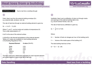 Heat loss from a building - Leeds Beckett University