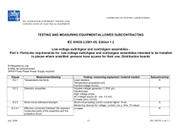 List of test equipment for IEC 60950 3rd ed.
