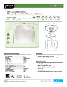 GU24 Closet Light Specifications