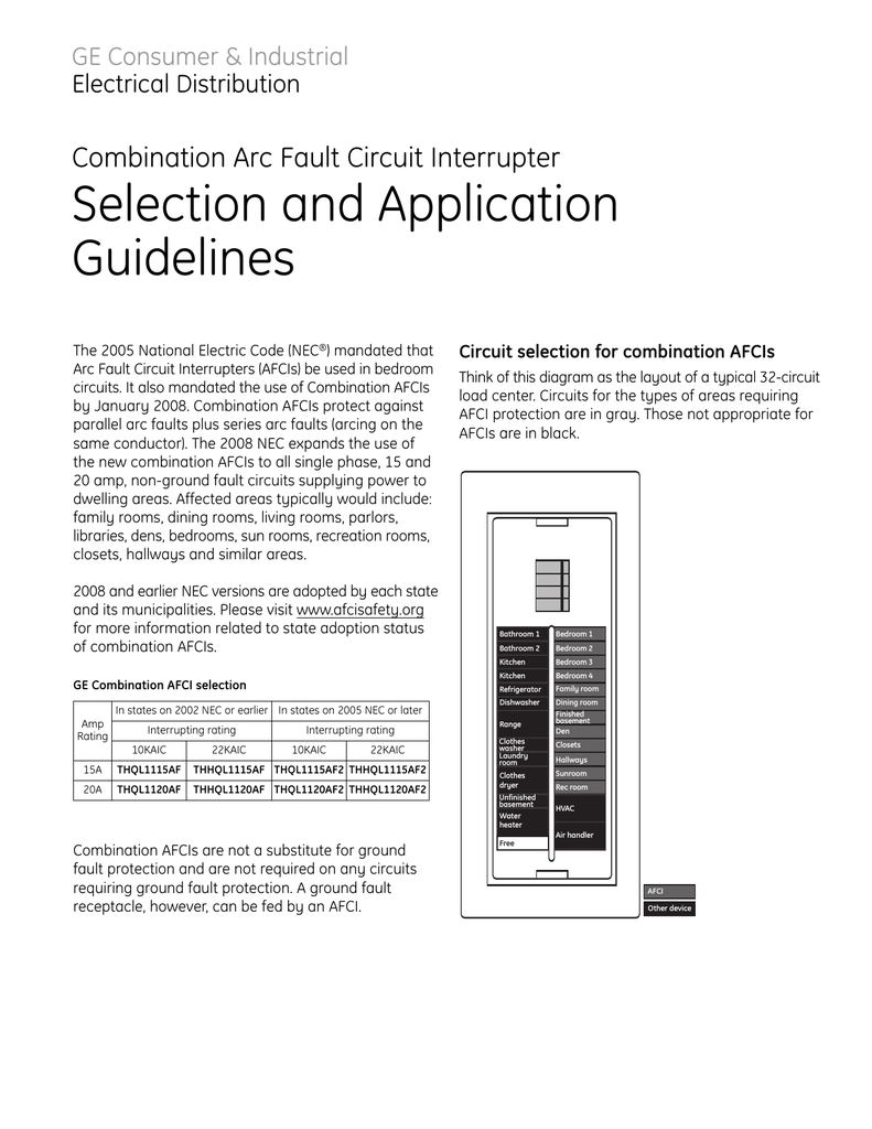 afci circuit bedroom wiring diagram combo afci app guidelines  combo afci app guidelines