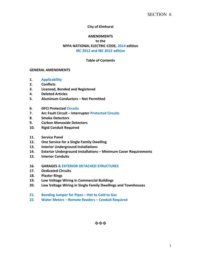 Amendments NEC - Sec 6