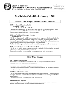 New Building Codes Effective January 1, 2011