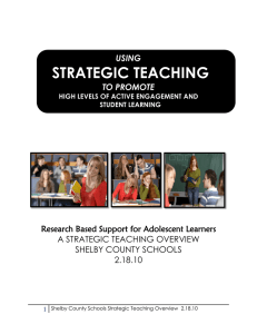 strategic teaching - Shelby County Schools