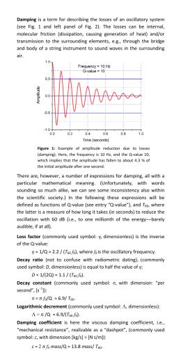 Free Vibration Response Review