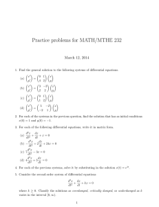 Here is a list of suggested practice problems