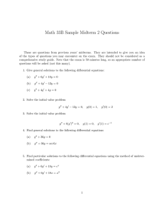 Math 33B Sample Midterm 2 Questions