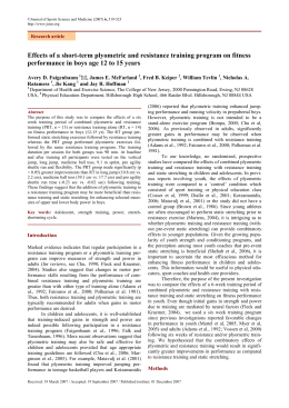 the effects of plyometric training program Learn what the science says and if you should even bother adding to your training at all (hint: yes) coaching & training programs one previous study in the literature suggested that the effects of a plyometric training program may only become evident a few weeks after completion of the.