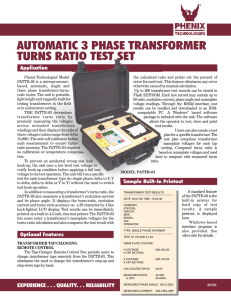 AUTOMATIC 3 PHASE TRANSFORMER TURNS RATIO TEST SET
