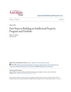 First Steps in Building an Intellectual Property Program and Portfolio