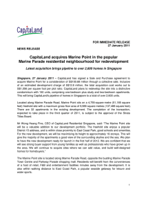 CapitaLand acquires Marine Point in the popular Marine Parade