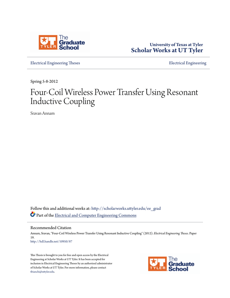 Four-Coil Wireless Power Transfer Using Resonant Inductive