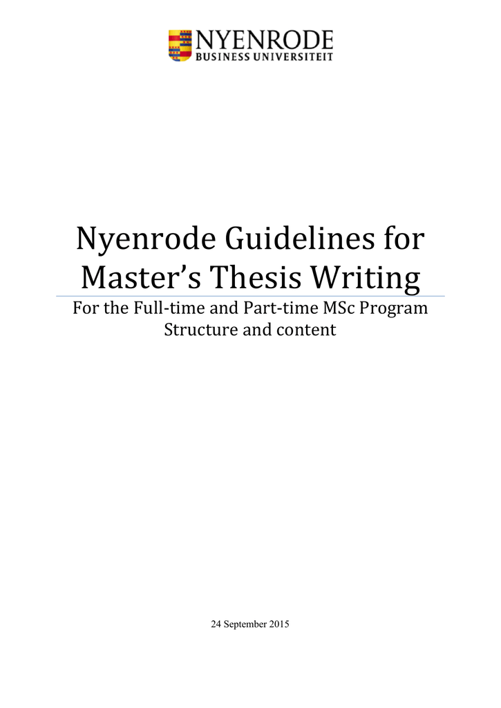 nyenrode thesis guidelines