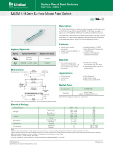 MLSM-4 15.2mm Surface Mount Reed Switch
