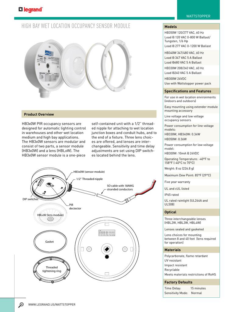 wattstopper wiring diagrams high bay wet location occupancy sensor module  wet location occupancy sensor module