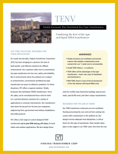 TENV Sales Sheet - Virginia Transformer Corporation