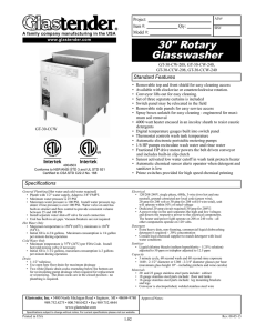"30"" Rotary Glasswasher"