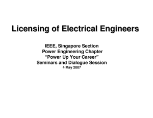 Licensing of Electrical Engineers
