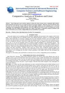 Comparative Analysis of Windows and Linux