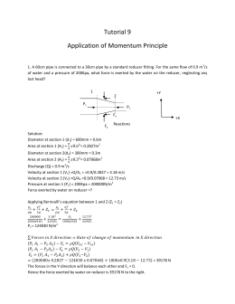 Tutorial 9 Application of Momentum Principle