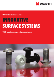 INNOVATIVE surfAcE sysTEms