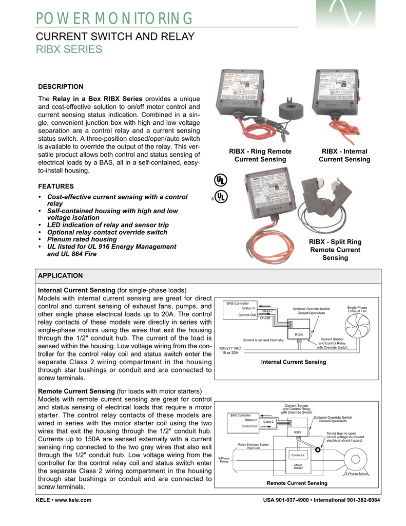 Power Monitoring Relay Contact Voltage