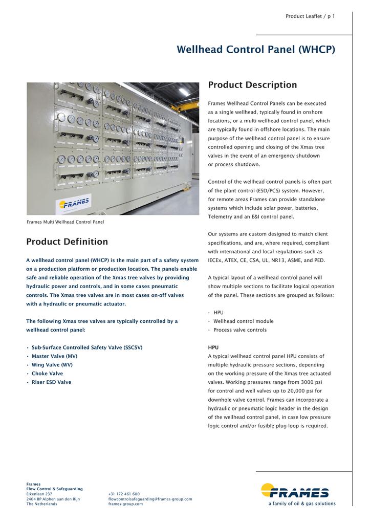 Wellhead Control Panel (WHCP)