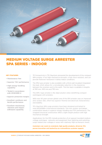 MEDIUM VOLTAGE SURGE ARRESTER SPA SERIES