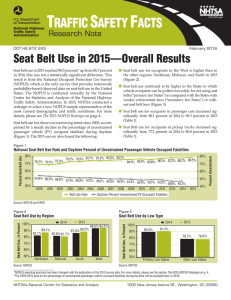 Research Note: Seat Belt Use in 2015—Overall Results