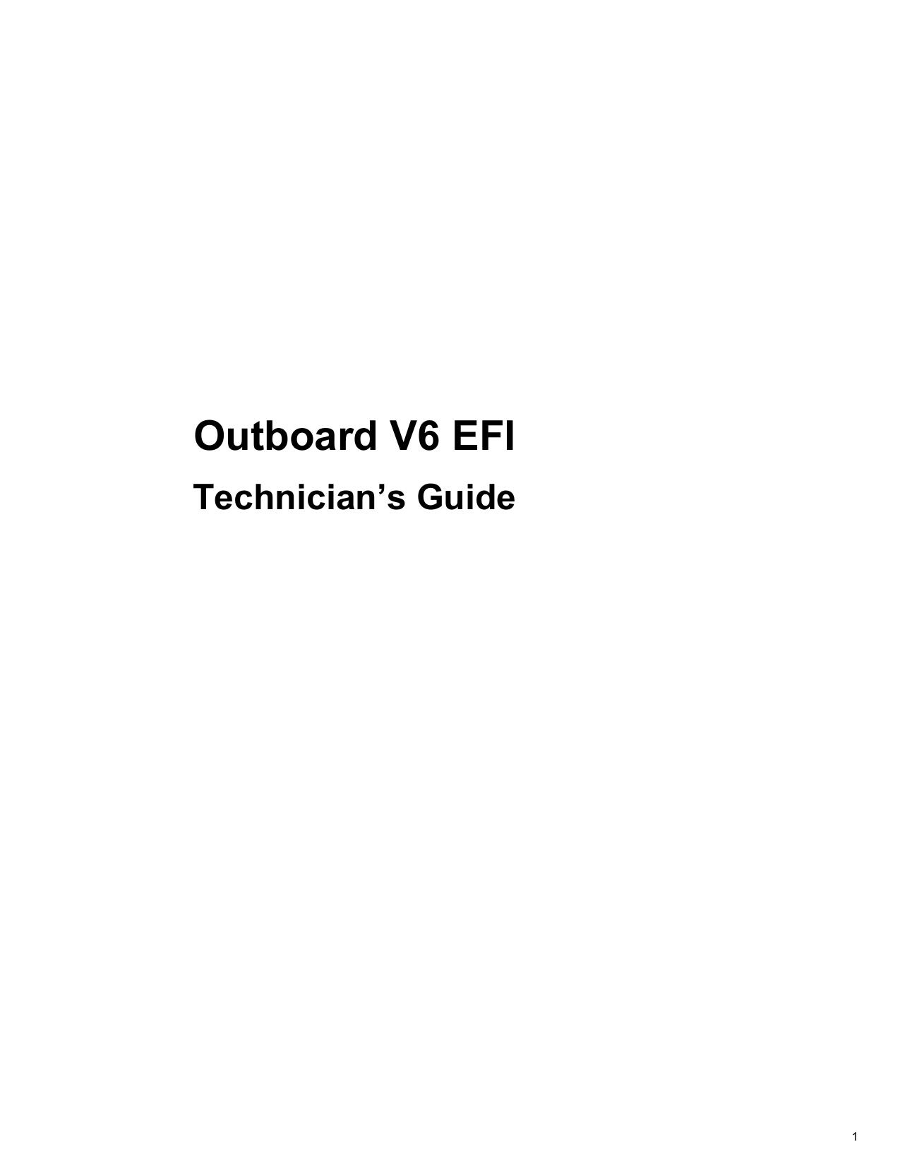 Outboard V6 EFI on